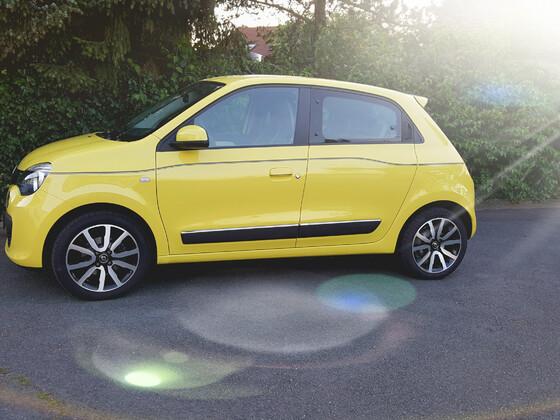 Gelbes Spaßmobil
