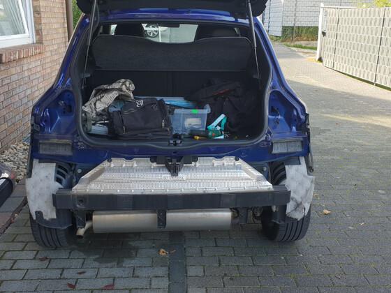 TCE90 COSMO EDC Ultraviolett ...Umbau Auspuff Phase 1...
